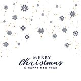 Happy New Year background with lettering design. Magic Christmas. Merry Christmas Royalty Free Stock Photography