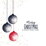 Happy New Year background with lettering design. Magic Christmas. Merry Christmas Royalty Free Stock Photos