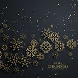 Happy New Year background with lettering design. Magic Christmas. Merry Christmas Stock Image