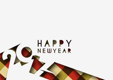 Happy new year 2017 Background. Happy new year 2017 lettering Text Vector Calligraphy Collection Design Background Stock Photo