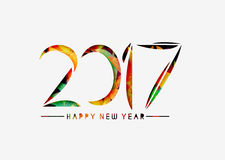 Happy new year 2017 Background. Happy new year 2017 lettering Text Vector Calligraphy Collection Design Background Stock Image