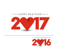Happy new year 2017 Background. Happy new year 2017 lettering Text Vector Calligraphy Collection Design Background Royalty Free Stock Photography