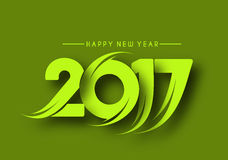 Happy new year 2017 Background. Happy new year 2017 lettering Text Vector Calligraphy Collection Design Background Stock Photos