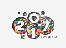 Happy new year 2017 Background. Happy new year 2017 lettering Text Vector Calligraphy Collection Design Background Royalty Free Stock Images