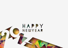Happy new year 2017 Background. Happy new year 2017 lettering Text Vector Calligraphy Collection Design Background Royalty Free Stock Photo