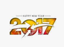 Happy new year 2017 Background. Happy new year 2017 lettering Text Vector Calligraphy Collection Design Background Stock Images