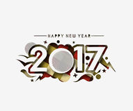 Happy new year 2017 Background. Happy new year 2017 lettering Text Vector Calligraphy Collection Design Background Royalty Free Stock Photos
