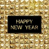 Happy New Year Background with luxury golden texture Stock Photo
