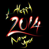 Happy new year background with neon lights. Vector illustration stock illustration