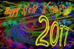 Happy new year 2017. Background for a nice greeting card royalty free illustration