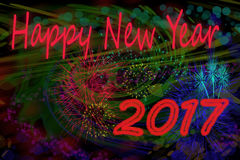 Happy new year 2017. Background for a nice greeting card vector illustration