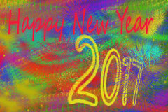 Happy new year 2017. Background for a nice greeting card stock illustration
