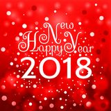 2018 Happy New Year background Royalty Free Stock Photo