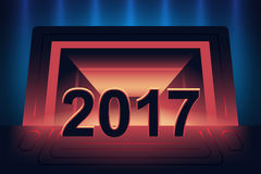 Happy new year 2017. Background. Night event design Royalty Free Stock Photography