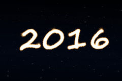Happy new year background with numbers 2016 Stock Photos