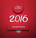 Happy New 2016 Year Stock Image