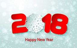Vector Happy New Year 2017 background with paper cuttings Royalty Free Stock Photos