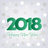 2018 Happy New Year background Stock Image