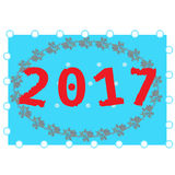 Happy New Year background. Pattern element for cover, print, web, wrapping. 2017 Happy New Year background. Pattern element for cover, print, web, wrapping Stock Images