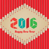 Happy new year 2016. Background pencils.  Stock Images