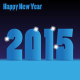 Happy new year 2015  background Royalty Free Stock Image