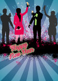 Happy new year background. Happy new year poster or flyer background with space vector illustration