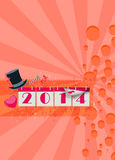 Happy new year background. Happy new year poster or flyer background with space royalty free illustration
