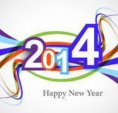 Happy New Year background with a rainbow wave colo Stock Images