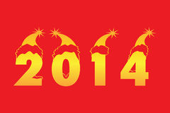 Happy New Year 2014 Background. Happy New Year 2014 Red Background Royalty Free Illustration