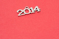 Happy new year 2014 background. Happy new year 2014 on red background Stock Images