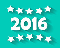 2016 Happy New Year background retro. Vector royalty free illustration
