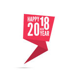 2018 Happy new year background. Ribbon banner with 2018 Happy new year. for greeting card, flyer, invitation, poster, brochure, banner, calendar, Christmas Royalty Free Stock Photo