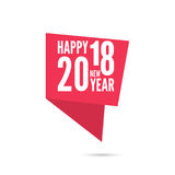 2018 Happy new year background. Ribbon banner with 2018 Happy new year. for greeting card, flyer, invitation, poster, brochure, banner, calendar, Christmas Stock Photography