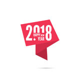 2018 Happy new year background. Ribbon banner with 2018 Happy new year. for greeting card, flyer, invitation, poster, brochure, banner, calendar, Christmas Royalty Free Stock Photos