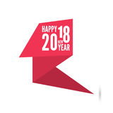 2018 Happy new year background. Ribbon banner with 2018 Happy new year. for greeting card, flyer, invitation, poster, brochure, banner, calendar, Christmas Stock Photo