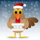 Happy New Year background with rooster. 2017 Happy New Year background with rooster. Vector illustration Royalty Free Stock Image
