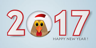 Happy New Year background with rooster. Vector illustration. 2017 Happy New Year background with rooster. Vector illustration Stock Photography
