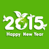 Happy New Year 2015 background with save the world concept Stock Photos