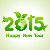 Happy New Year 2015 background with save the world concept Stock Images