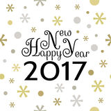 2017 Happy New Year background. Seamless pattern element for cover, print, web, wrapping. Vector illustration Royalty Free Illustration