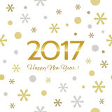 2017 Happy New Year background. Seamless pattern element for cover, print, web, wrapping. Vector illustration stock illustration
