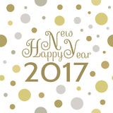 2017 Happy New Year background. Seamless pattern element for cover, print, web, wrapping. Vector illustration Vector Illustration
