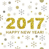 2017 Happy New Year background. Seamless pattern element for use in 2017 cover, print, web, wrapping and new year 2017 card Royalty Free Stock Photos