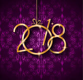 2018 Happy New Year Background for Seasonal Greetings Card. 2018 Happy New Year Background for your Seasonal Flyers and Greetings Card or Christmas themed Royalty Free Stock Photos