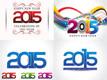 happy new year background set illustration Royalty Free Stock Image