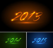 Happy new year. Background with shiny numbers Royalty Free Stock Photography