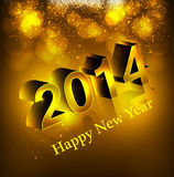 Happy new year background with shiny text 2014 Royalty Free Stock Images