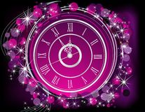 Happy New Year  background. Silver and violet Stock Image