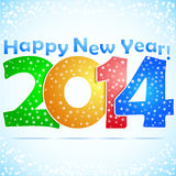 Happy New Year 2014 Background. With snow Stock Photo