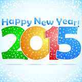 Happy New Year 2015 Background. With snow stock illustration